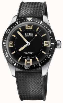 Oris 潜水员六十五个自动橡胶表带黑色表盘 01 733 7707 4064-07 4 20 18