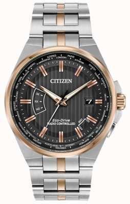 Citizen 男士世界永恒不锈钢和玫瑰金ip CB0166-54H