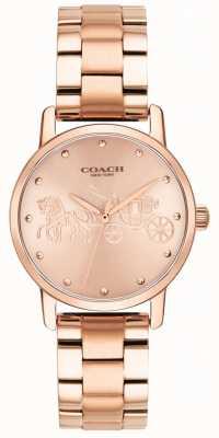 Coach 女式大玫瑰金手链和表壳手表 14502977