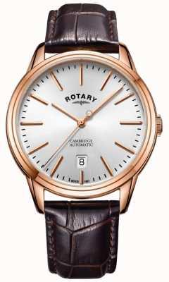 Rotary 男士剑桥腕表玫瑰金色调表壳真皮表带 GS05252/02