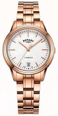 Rotary 女士剑桥手表玫瑰金色调手链 LB05262/06