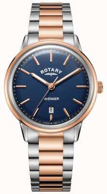 Rotary 男士复仇者手表|不锈钢手链|蓝色表盘| GB05342/05