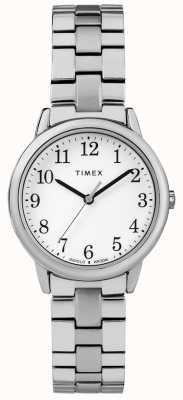 Timex 女士31mm高级不锈钢白色表盘 TW2R58700