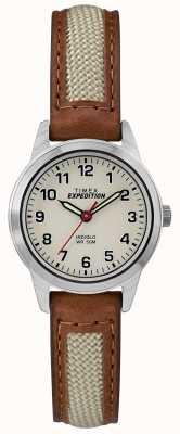 Timex 田野迷你棕褐色真皮表盘 TW4B11900
