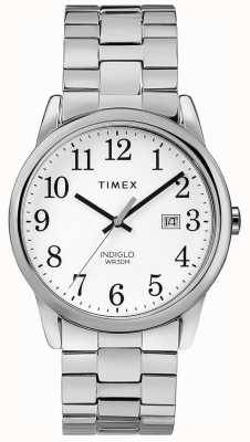 Timex 男士38毫米可扩展带不锈钢白色表盘 TW2R58400