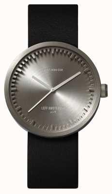 Leff Amsterdam Tube watch d38精钢表壳黑色真皮表带 LT71001