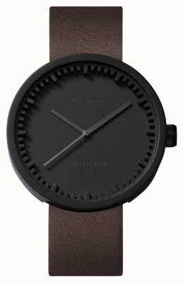 Leff Amsterdam Tube watch d38黑色表壳棕色真皮表带 LT71012