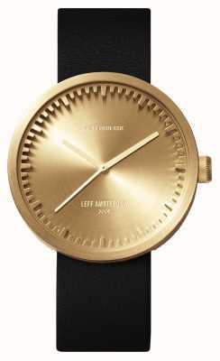 Leff Amsterdam Tube手表d42黄铜表壳黑色皮表带 LT72021