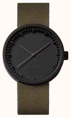 Leff Amsterdam 电子表d42黑色表壳绿色cordura表带 LT72014