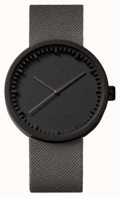 Leff Amsterdam 电子表d42黑色表壳灰色cordura表带 LT72015