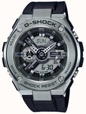 Casio G-shock G钢黑色树脂表带 GST-410-1AER