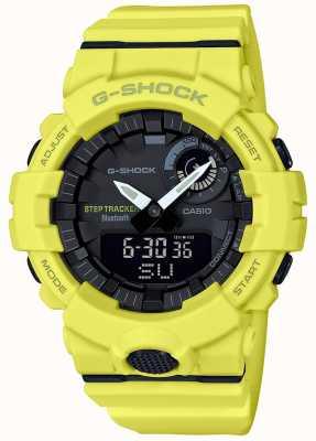 Casio G-shock蓝牙健身步跟踪器黄色表带 GBA-800-9AER