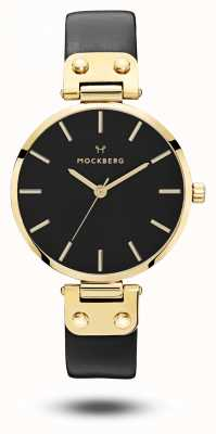 Mockberg Saga黑金色pvd保护套黑色表带黑色表盘 MO113