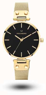 Mockberg Livia noir镀金黑色金色pvd表盘 MO1603