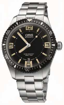 Oris 潜水员六十五个自动不锈钢黑色表盘 01 733 7707 4064-07 8 20 18