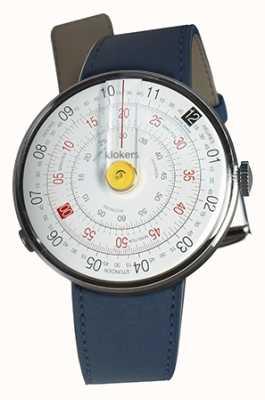 Klokers Klok 01黄色手表头靛蓝蓝色单肩带 KLOK-01-D1+KLINK-01-MC3