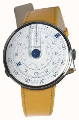 Klokers Klok 01蓝色表壳纽波特黄色单肩带 KLOK-01-D4.1+KLINK-01-MC7.1