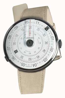 Klokers Klok 01黑色手表头灰色alcantara单肩带 KLOK-01-D2+KLINK-01-MC6