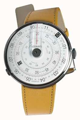 Klokers Klok 01黑色手表头纽波特黄色单表带 KLOK-01-D2+KLINK-01-MC7.1