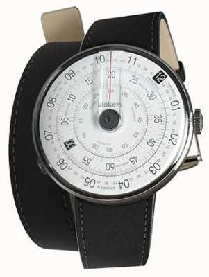 Klokers Klok 01黑色手表头垫黑色380mm双肩带 KLOK-01-D2+KLINK-02-380C2