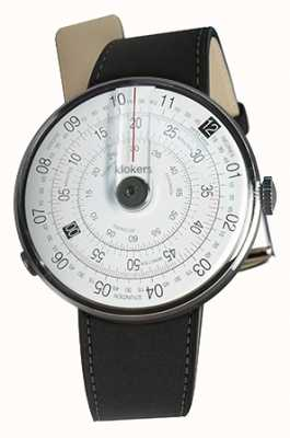 Klokers Klok 01黑色手表头垫黑色双肩带 KLOK-01-D2+KLINK-02-380C2
