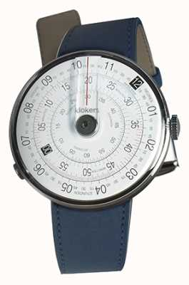 Klokers Klok 01黑色手表头靛蓝蓝色双肩带 KLOK-01-D2+KLINK-02-380C3