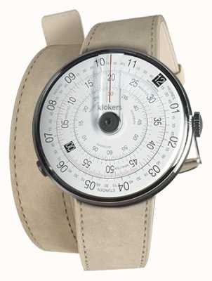 Klokers Klok 01黑色手表头灰色alcantara 420mm双肩带 KLOK-01-D2+KLINK-02-420C6
