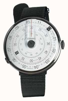Klokers Klok 01黑色手表头黑色纺织单肩带 KLOK-01-D2+KLINK-03-MC3
