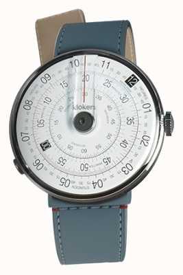 Klokers Klok 01黑色手表头蓝色牛仔裤单肩带 KLOK-01-D2+KLINK-04-LC10