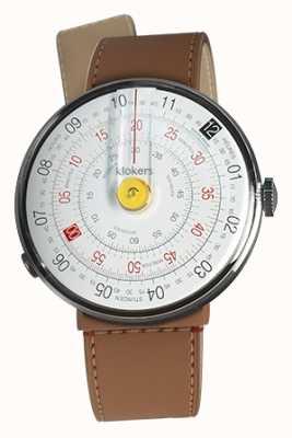 Klokers Klok 01黄色手表头焦糖棕色海峡单带 KLOK-01-D1+KLINK-04-LC12