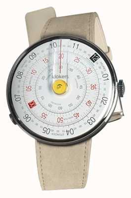 Klokers Klok 01黄色手表头灰色alcantara单肩带 KLOK-01-D1+KLINK-01-MC6