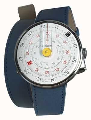 Klokers Klok 01黄色手表头靛蓝蓝双表带 KLOK-01-D1+KLINK-02-380C3