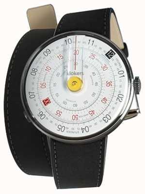 Klokers Klok 01黄色手表头垫黑色420毫米双肩带 KLOK-01-D1+KLINK-02-420C2