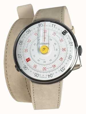 Klokers Klok 01黄色手表头灰色alcantara 420mm双肩带 KLOK-01-D1+KLINK-02-420C6