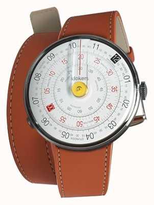 Klokers Klok 01黄色手表头橙色420毫米双肩带 KLOK-01-D1+KLINK-02-420C8