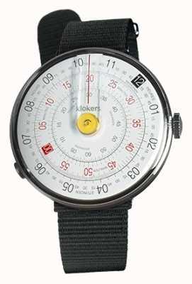 Klokers Klok 01黄色手表头黑色纺织单肩带 KLOK-01-D1+KLINK-03-MC3