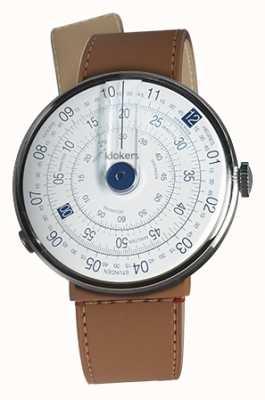 Klokers Klok 01蓝色手表头焦糖棕色海峡单带 KLOK-01-D4.1+KLINK-04-LC12
