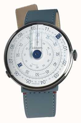 Klokers Klok 01蓝色手表头蓝色牛仔海峡单带 KLOK-01-D4.1+KLINK-04-LC10