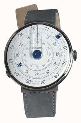 Klokers Klok 01蓝色手表头灰色alcantara海峡单带 KLOK-01-D4.1+KLINK-04-LC11