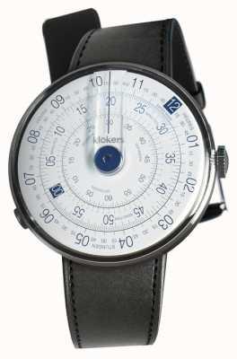 Klokers Klok 01蓝色手表头黑色缎面单肩带 KLOK-01-D4.1+KLINK-01-MC1