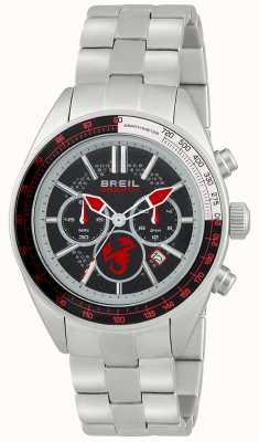 Breil Abarth不锈钢计时码表黑色和红色表盘 TW1692
