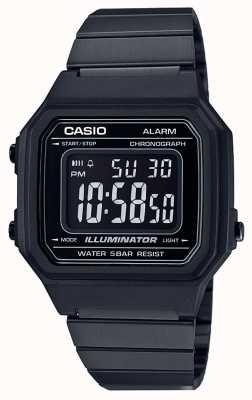 Casio 复古核心经典数码照明黑色ip涂层 B650WB-1BEF