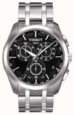 Tissot 男士coutourier计时码表黑色表盘不锈钢 T0356171105100