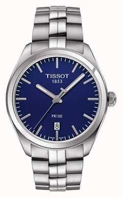 Tissot 男士pr100不锈钢手链蓝色表盘 T1014101104100