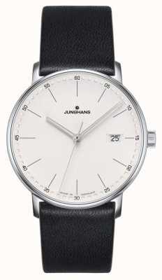 Junghans 表格石英黑色皮革手表 041/4884.00