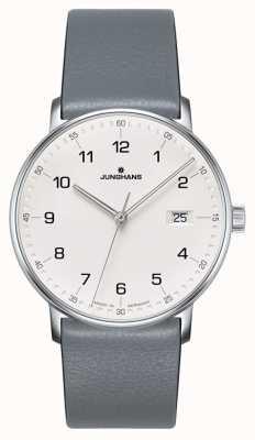 Junghans 表格石英灰色小牛皮表带 041/4885.00