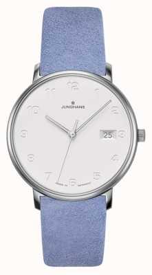 Junghans 形式damen浅蓝色小牛皮表带 047/4852.00