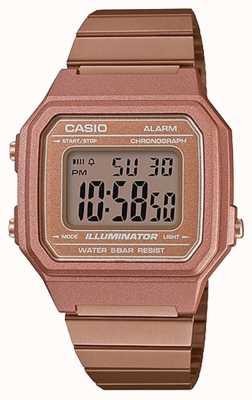 Casio 复古核心经典数码照明器玫瑰金 B650WC-5AEF