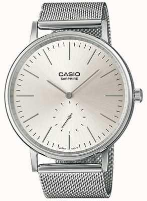 Casio 蓝宝石不锈钢网状手镯 LTP-E148M-7AEF