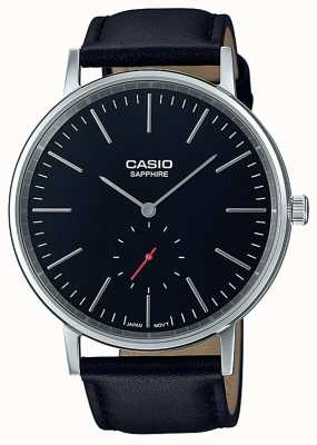 Casio 蓝宝石水晶黑色真皮表带 LTP-E148L-1AEF